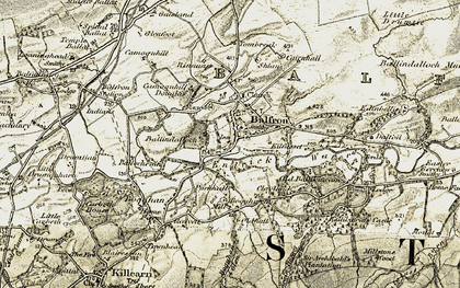 Old map of Balfron in 1904-1907