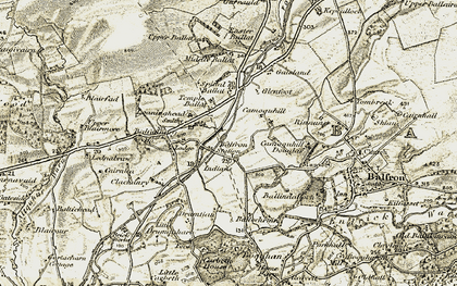 Old map of Templelea in 1904-1907