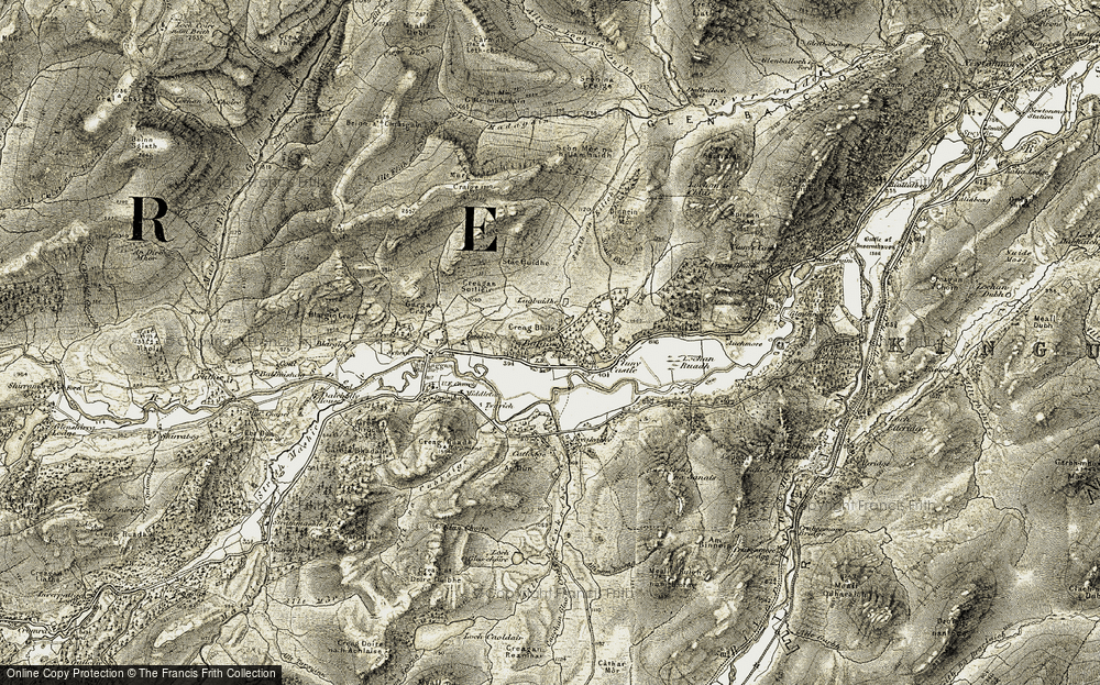 Old Map of Balgowan, 1908 in 1908
