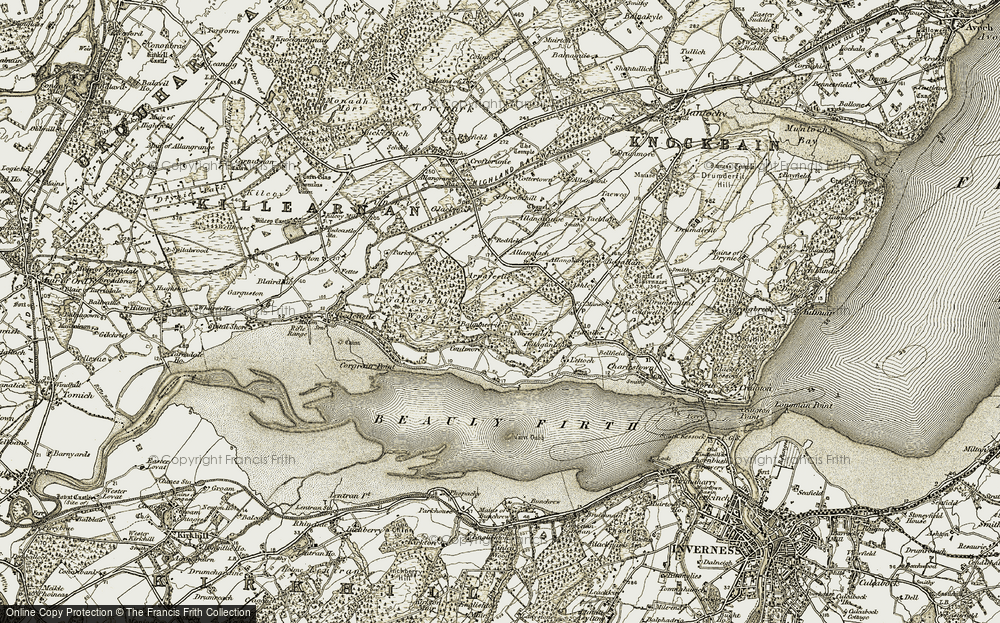 Old Map of Balgunearie, 1911-1912 in 1911-1912