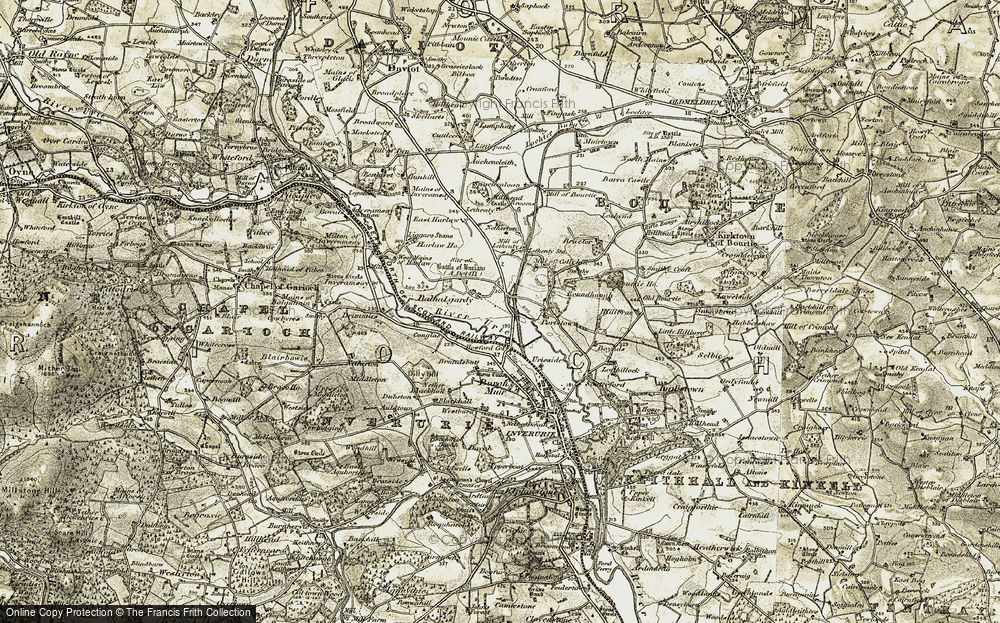Old Map of Balhalgardy, 1909-1910 in 1909-1910