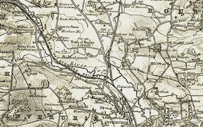 Old map of Balhalgardy in 1909-1910