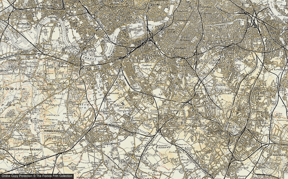Old Map of Balham, 1897-1909 in 1897-1909