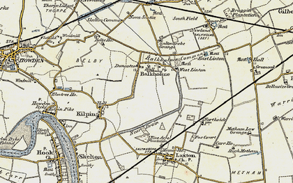 Old map of Balkholme in 1903