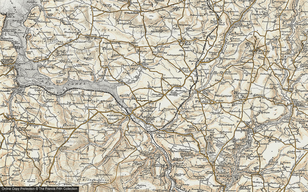 Old Map of Ball, 1900 in 1900