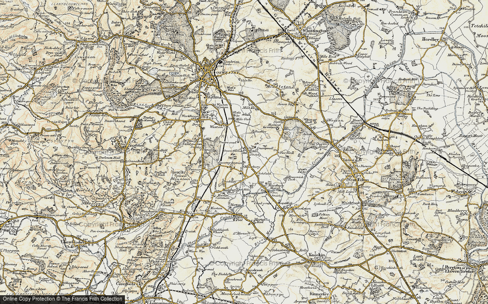 Old Map of Ball, 1902 in 1902