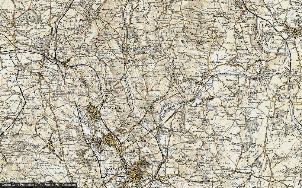 Old Map of Ball Green, 1902 in 1902