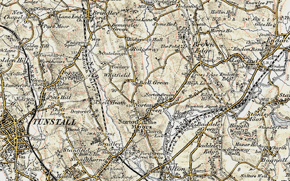 Old map of Ball Green in 1902