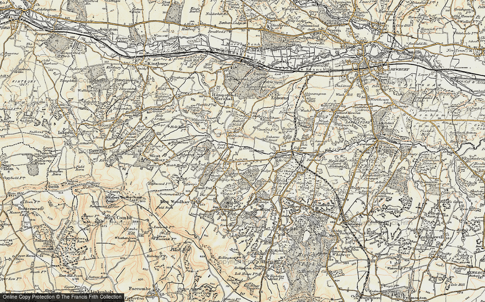 Old Map of Ball Hill, 1897-1900 in 1897-1900