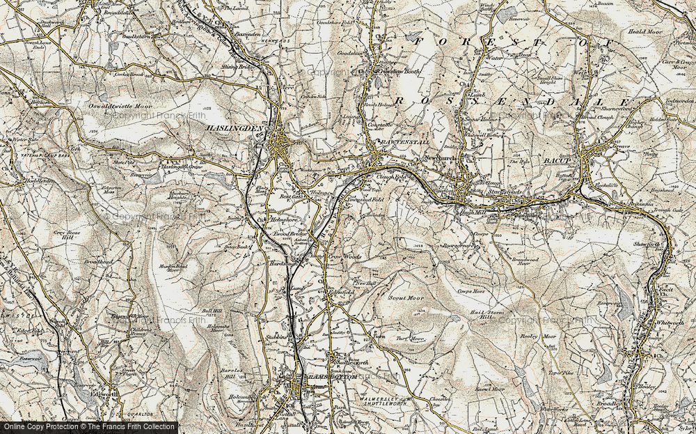 Old Map of Balladen, 1903 in 1903