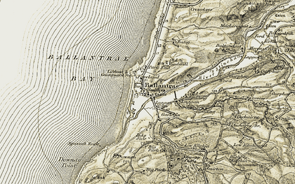Old map of Ballantrae in 1905