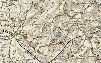 Old map of Ballard's Green in 1901-1902
