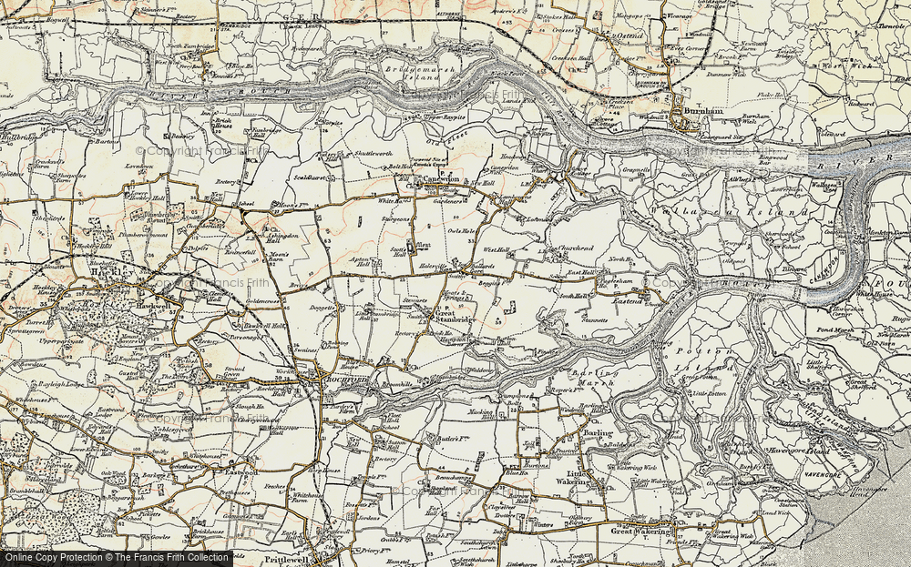 Old Map of Ballards Gore, 1898 in 1898