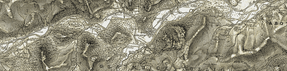 Old map of Ballintober in 1908-1909