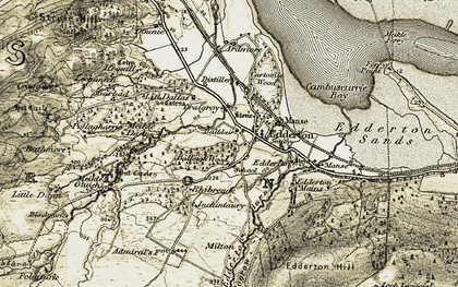 Old map of Balleigh in 1911-1912