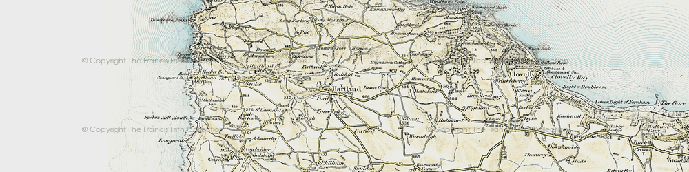 Old map of Ballhill in 1900