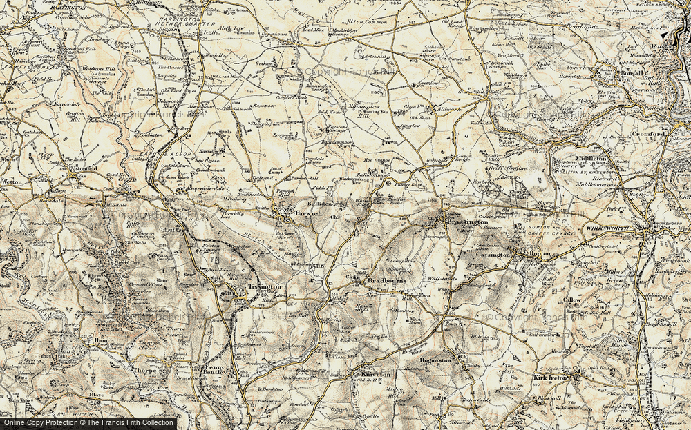 Old Map of Ballidon, 1902-1903 in 1902-1903