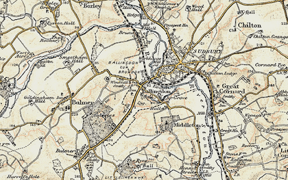 Old map of Ballingdon Grove in 1898-1901