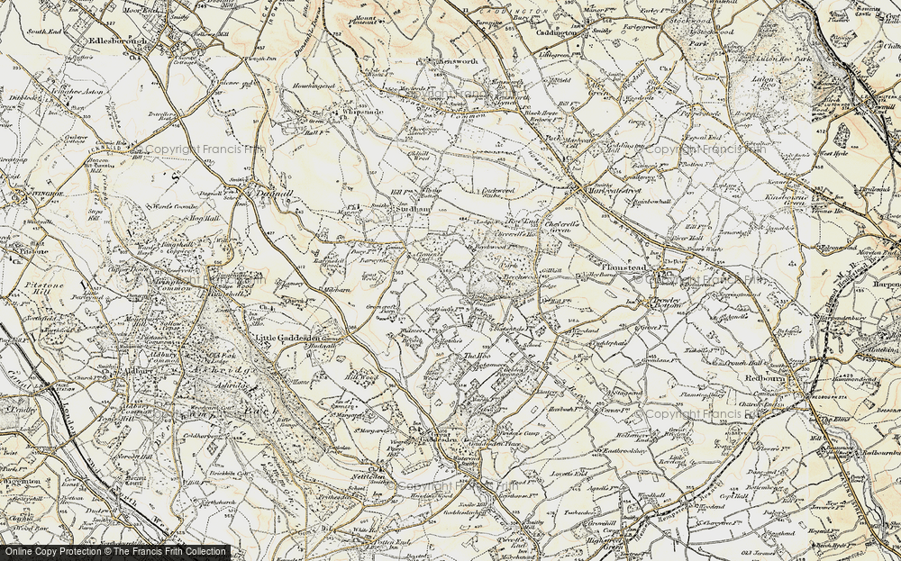 Old Map of Ballingdon Bottom, 1898-1899 in 1898-1899