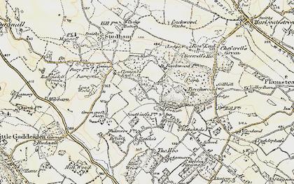 Old map of Ballingdon Bottom in 1898-1899