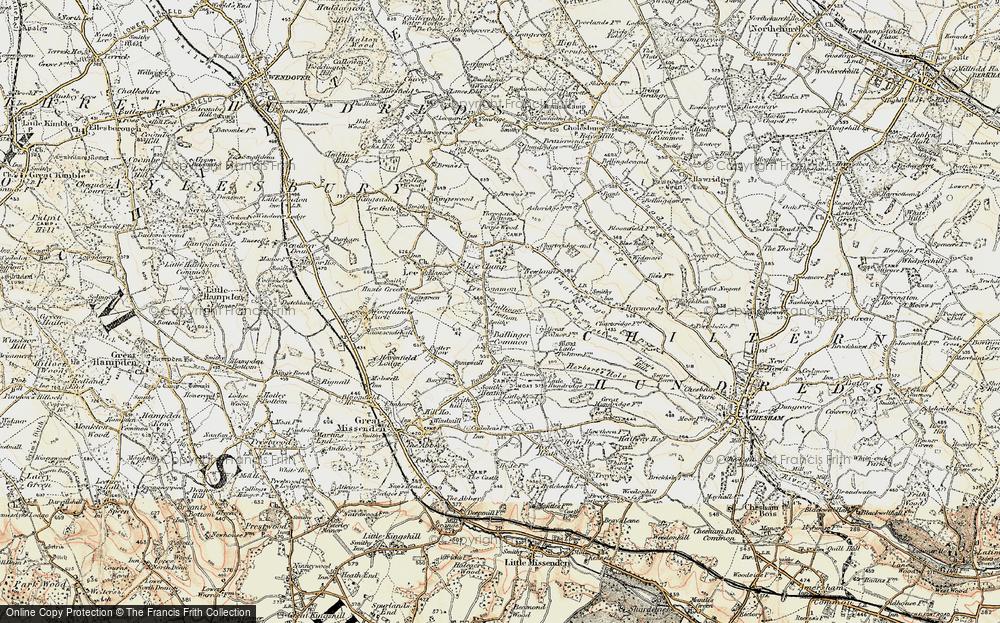 Old Map of Ballinger Bottom, 1897-1898 in 1897-1898