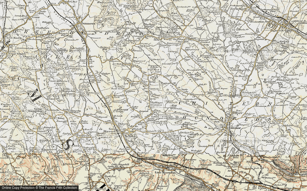 Old Map of Ballinger Common, 1897-1898 in 1897-1898