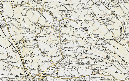 Old map of Ballinger Common in 1897-1898