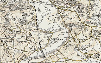 Old map of Ballingham Hill in 1899-1900
