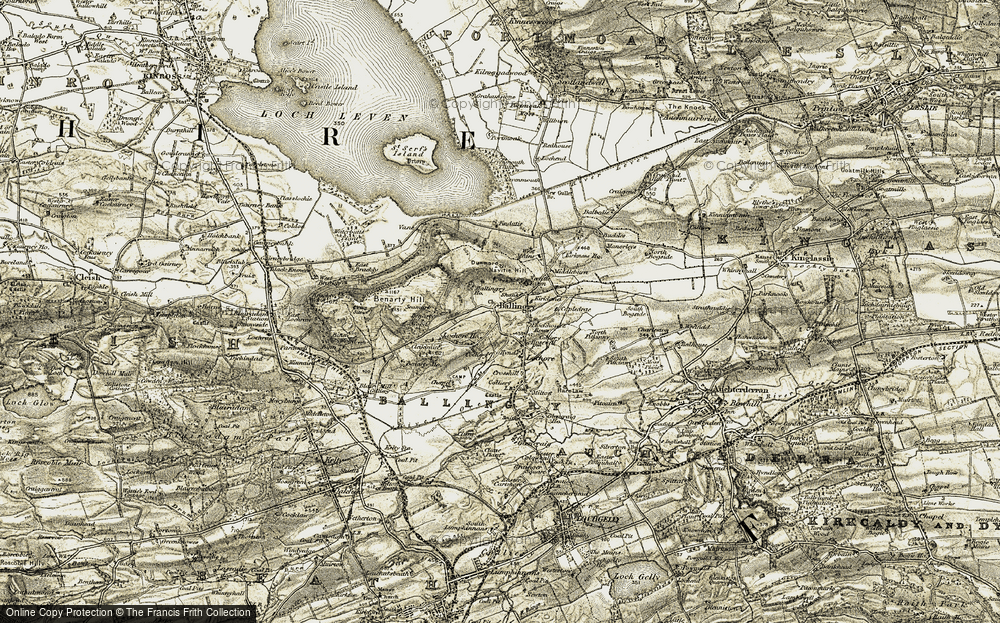 Old Map of Ballingry, 1903-1908 in 1903-1908