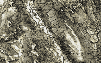 Old map of Alltreoch in 1907-1908