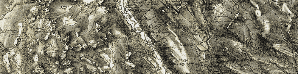 Old map of Woodhill in 1907-1908