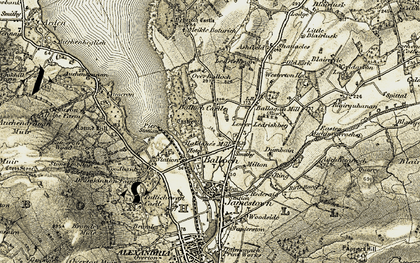 Old map of Ashfield Ho in 1905-1907