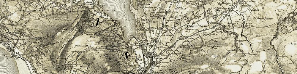Old map of Ledrishmore in 1905-1907