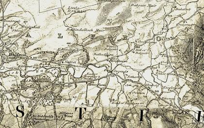 Old map of Wester Balgair in 1904-1907