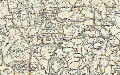 Old map of Balls Cross in 1897-1900