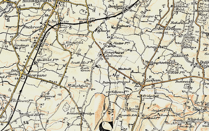 Old map of Balls Green in 1898