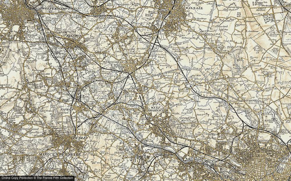 Old Map of Balls Hill, 1902 in 1902