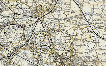 Old map of Balls Hill in 1902