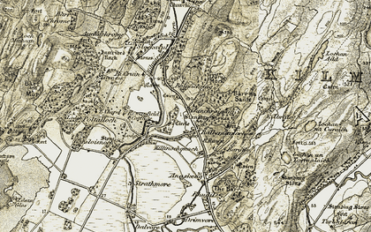 Old map of Ballymeanoch in 1906-1907