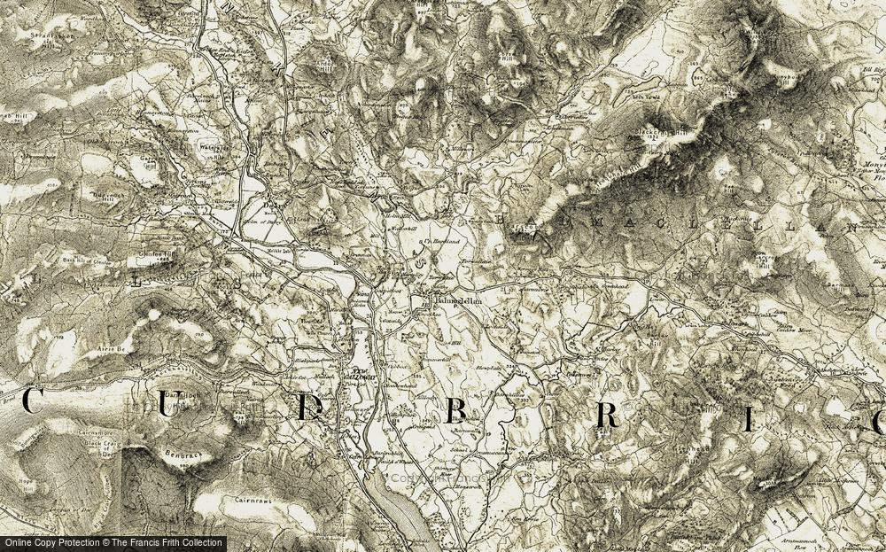 Old Map of Balmaclellan, 1904-1905 in 1904-1905