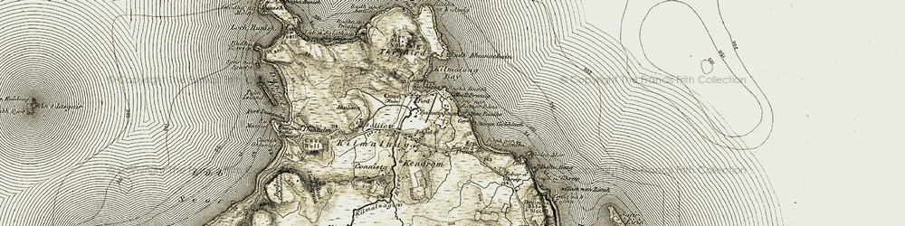 Old map of Tobar a' Ghreip in 1908-1911