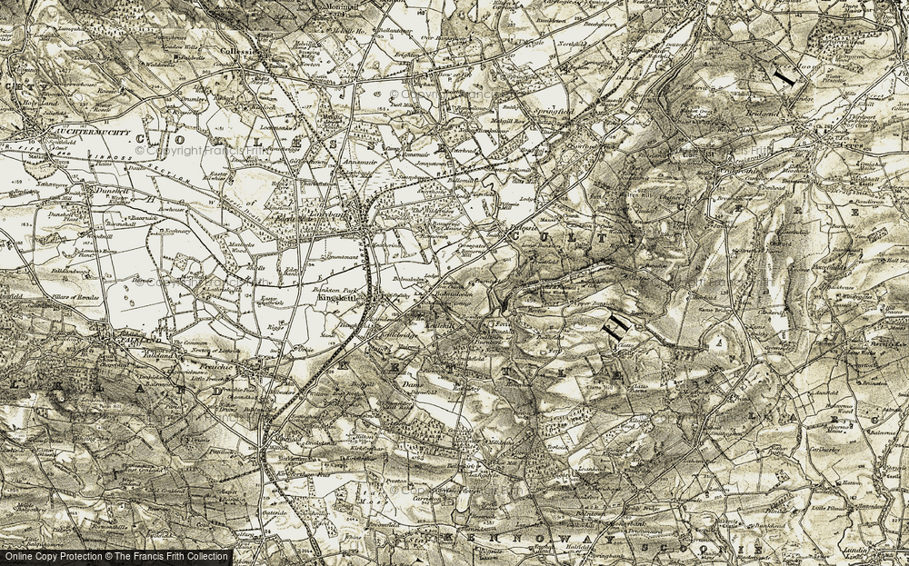 Old Map of Balmalcolm, 1906-1908 in 1906-1908