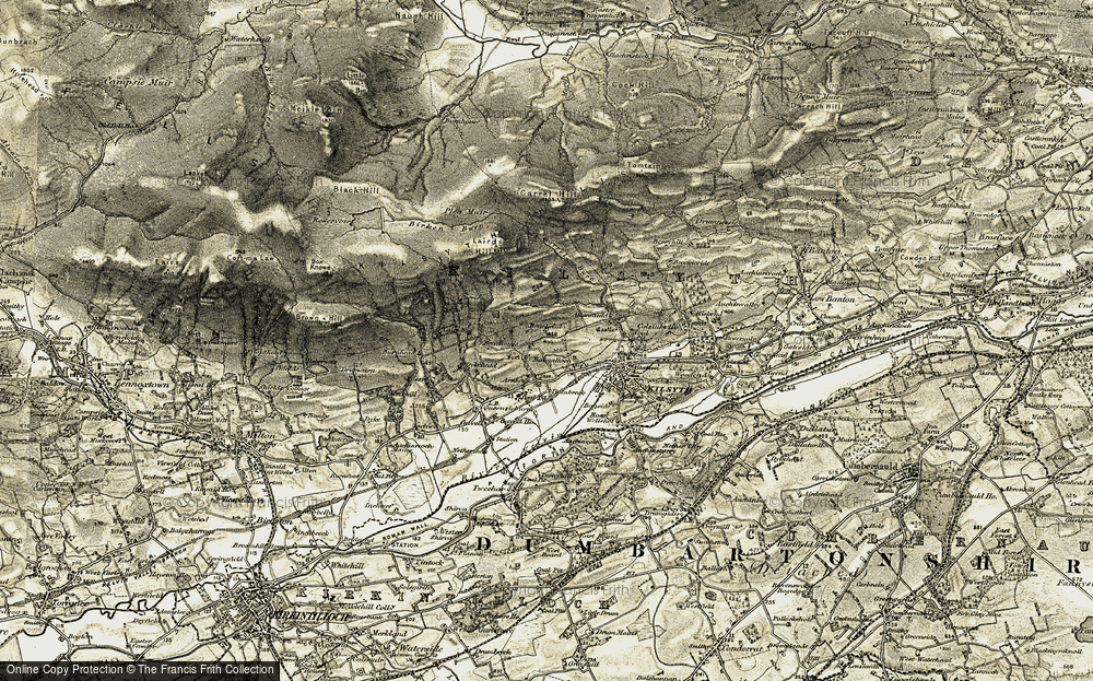 Old Map of Balmalloch, 1904-1907 in 1904-1907