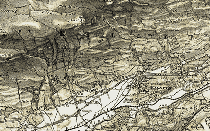 Old map of Balmalloch in 1904-1907
