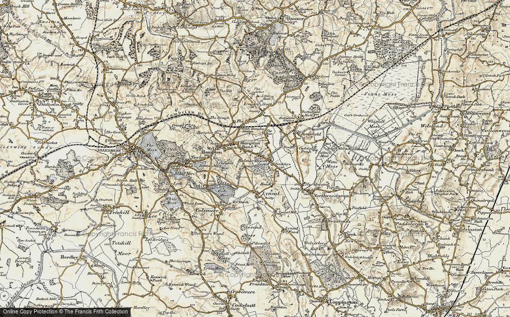 Old Map of Balmer Heath, 1902 in 1902
