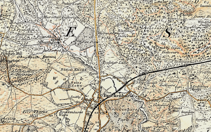 Old map of Balmerlawn in 1897-1909