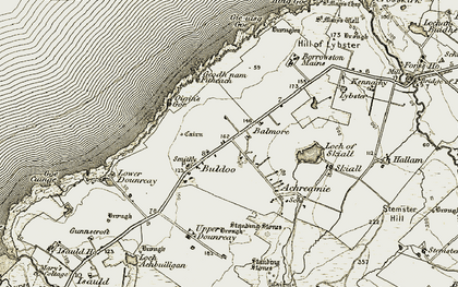 Old map of Balmore in 1912