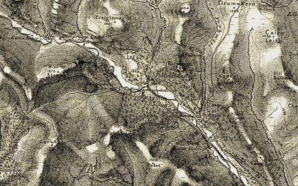 Old map of Balnaboth in 1908