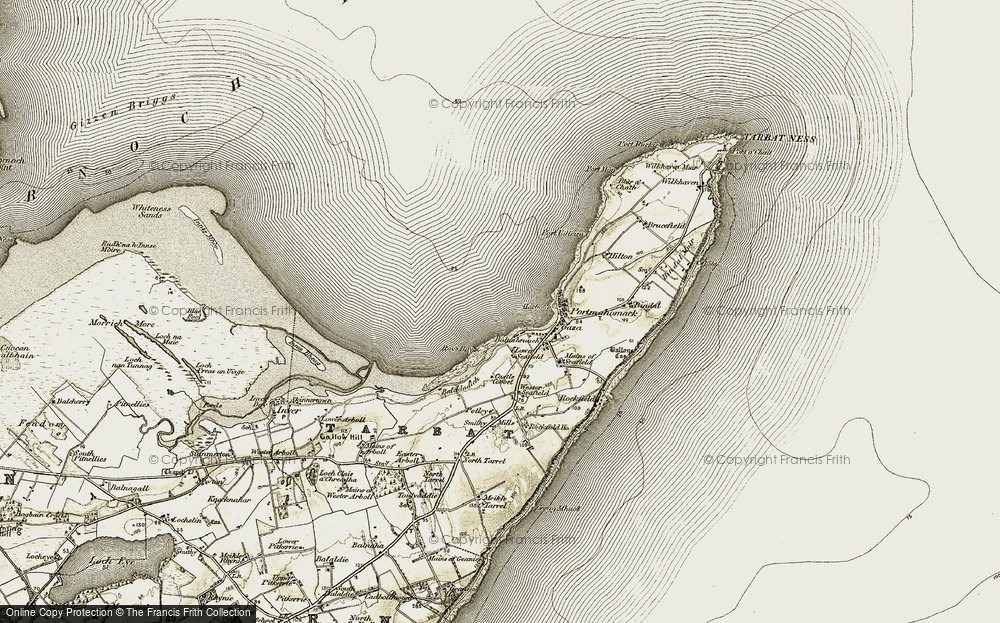Old Map of Balnabruach, 1911-1912 in 1911-1912