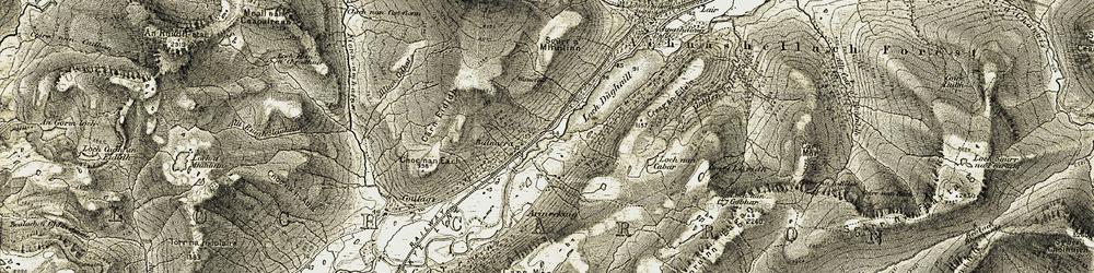 Old map of Arineckaig in 1908-1909